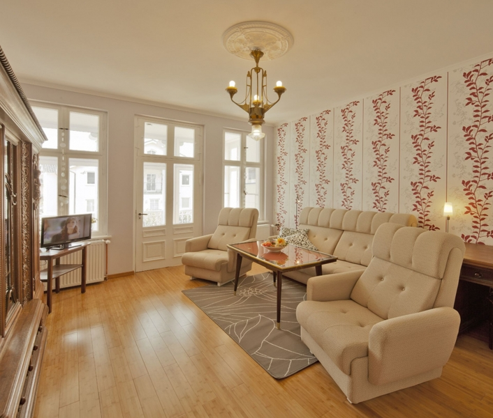 2a Villa See Eck in Ahlbeck 3RaumApp Wohnzimmer Aufnachusedom Ferienwohnung Ferienhaus und Meehr Ahlbeck Bansin Usedom Insel 19 - Ferienwohnungen in Ahlbeck
