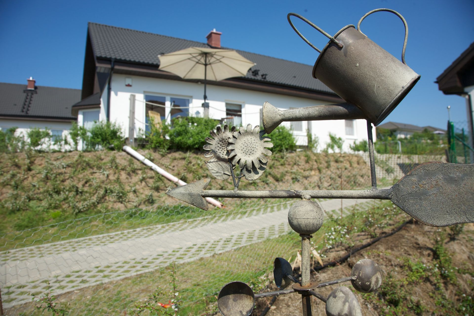 Außenansicht der Ferienhaus / Ferienhäuser im Seebad Bansin auf der Insel Usedom.