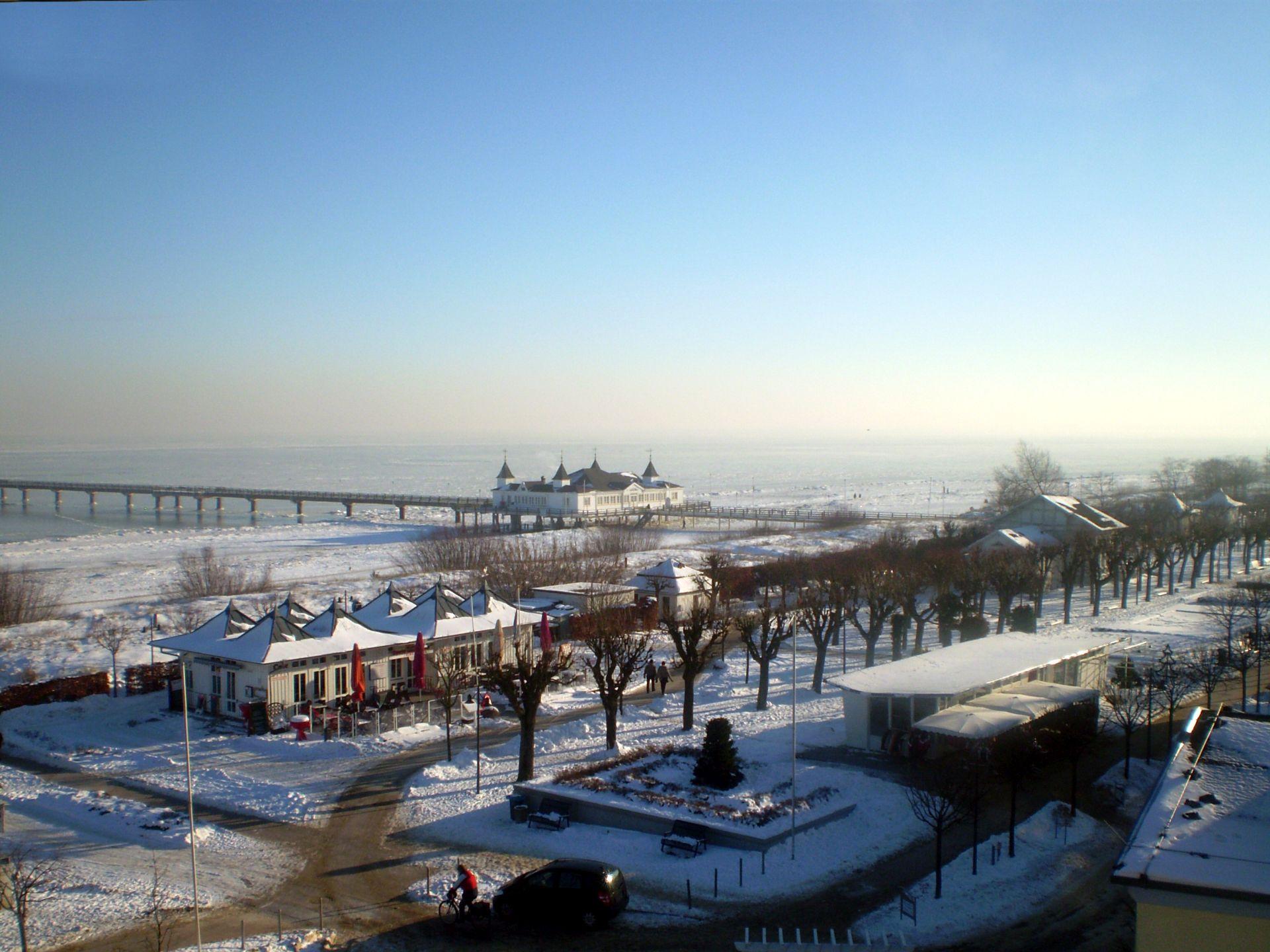 Winterstimmung im Seebad Ahlbeck.