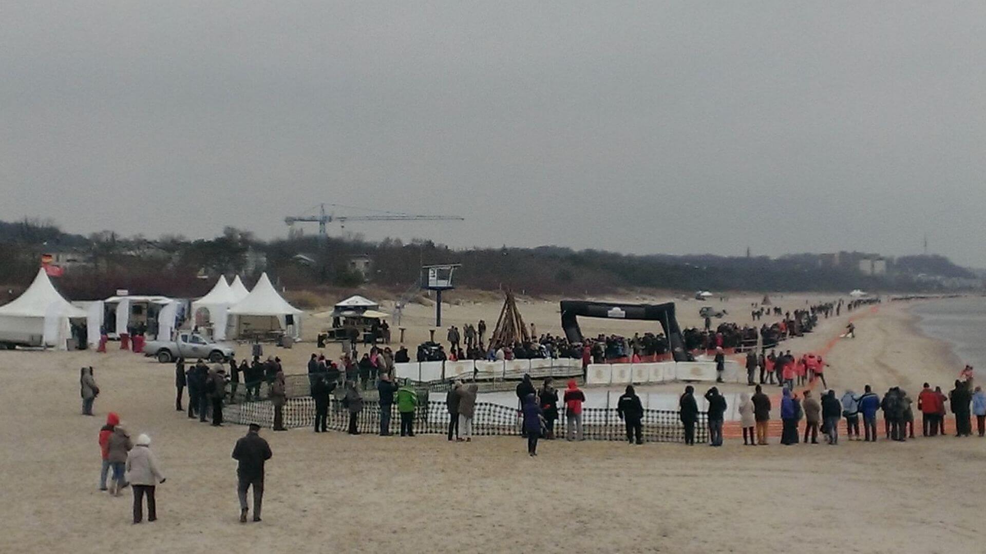 Baltic Lights - Schlittenhunderennen am Strand von Ahlbeck.