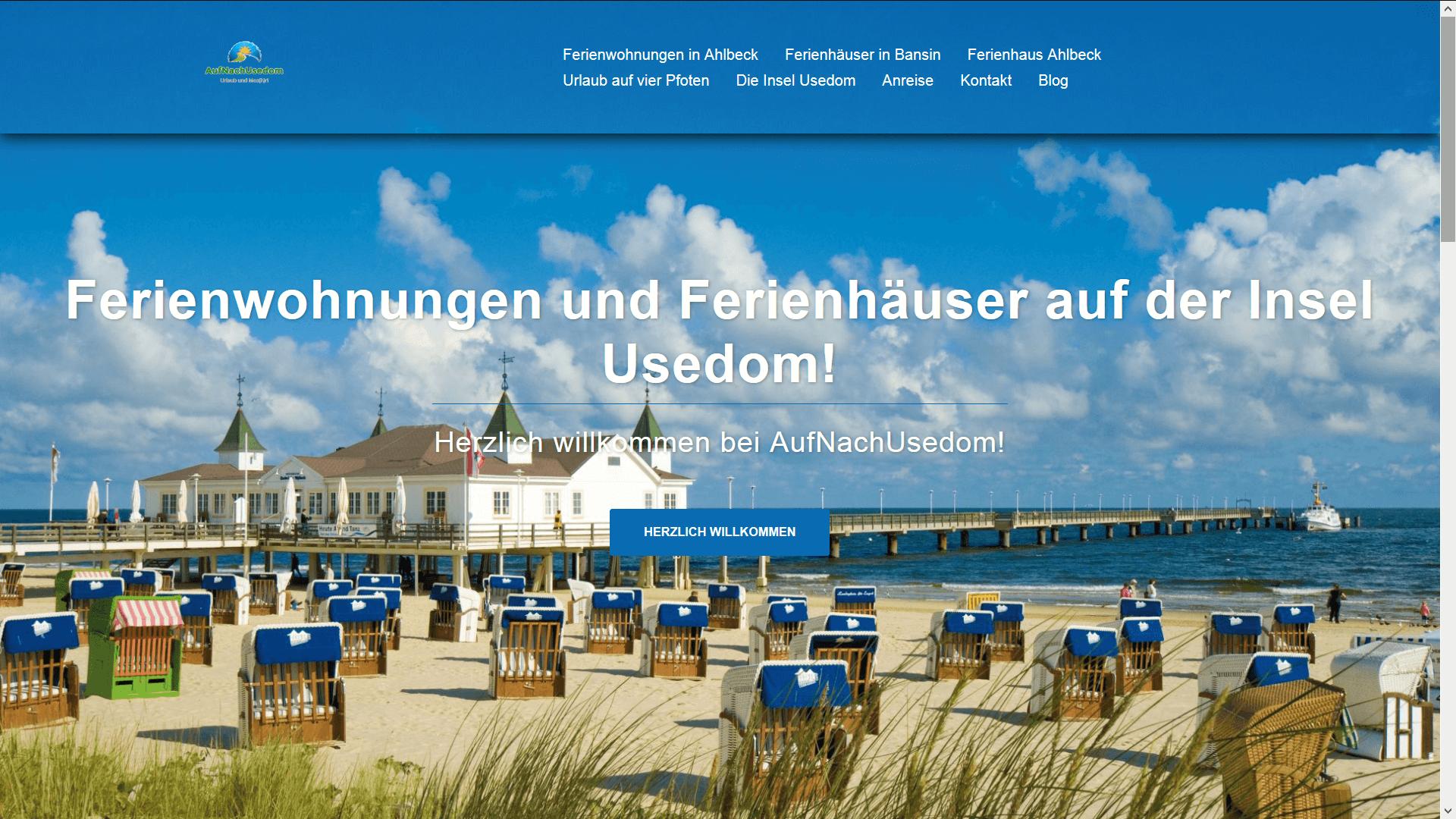 Website screenshot - Wir haben eine neue Website
