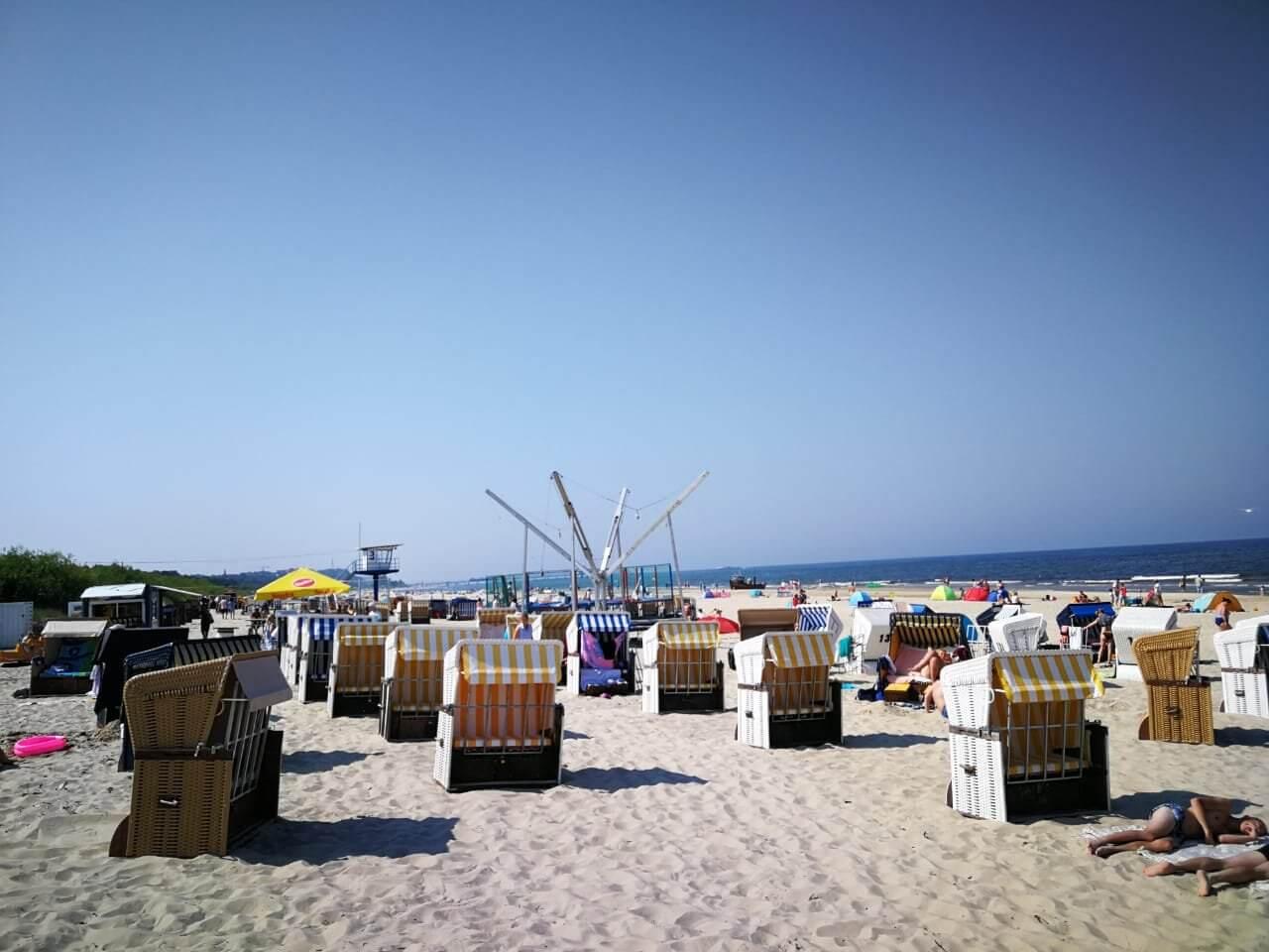 Strandkörbe im Seebad Ahlbeck.